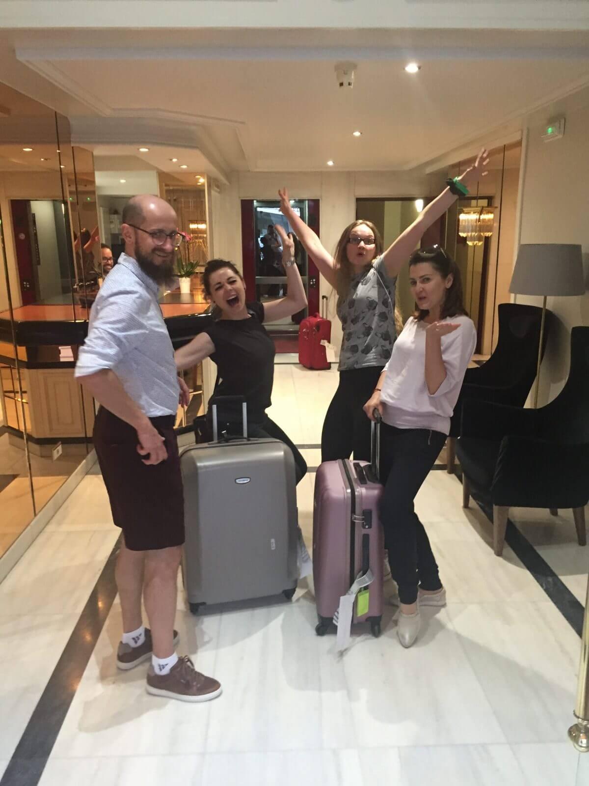 Radość z odnalezionych bagaży!