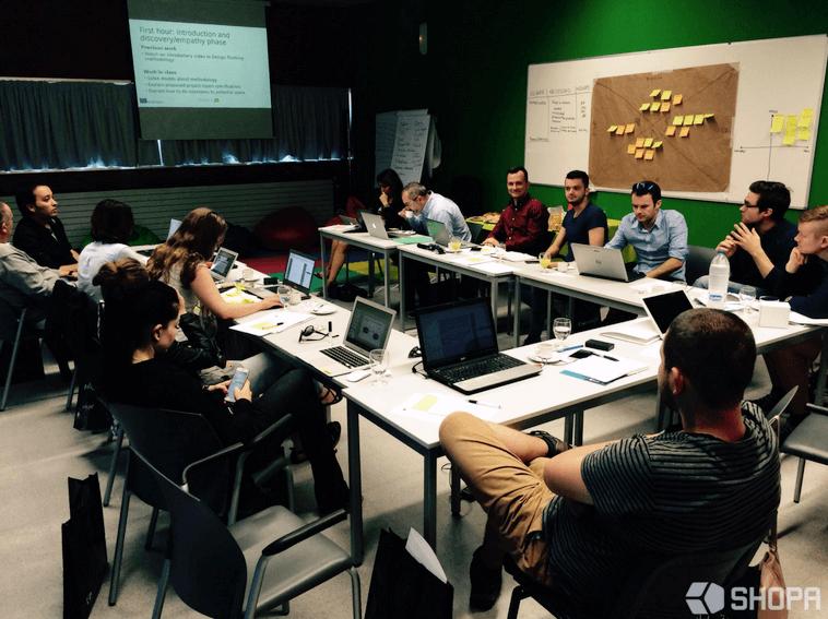 Praca podczas spotkania partnerów projektu DiamonDT • SHOPA